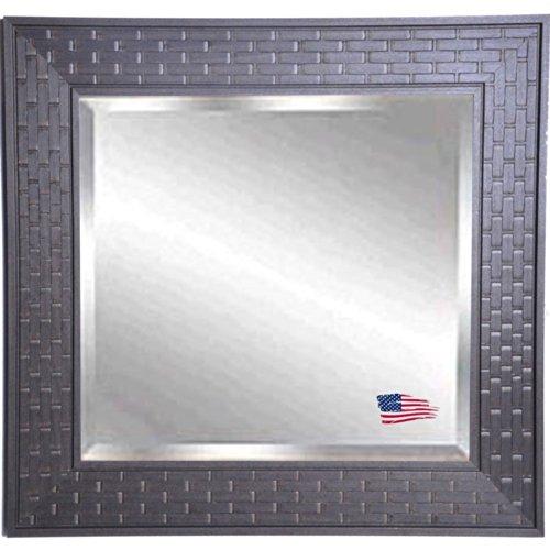 American Made Rayne Espresso Bricks Beveled Wall Mirror, 40.5 X 34.5 front-690896