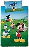 Disney Mickey Mouse Single Duvet Set 140 x 200 cm Pillow 65 cm x 70 cm 100 % Cotton