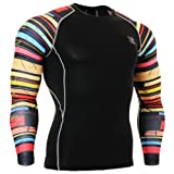 Fixgear Sports Mens Womens Compression Gear Gym Exercise Black Tee shirt Xl