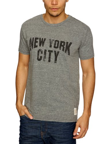 Retro NYCNYC Printed Men's T-Shirt Grey Large