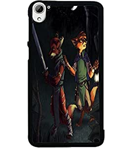 ColourCraft Funny Image Design Back Case Cover for HTC DESIRE 826