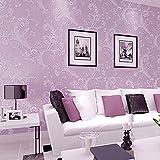 Auralum DIY 3D立体 のりなし 壁紙 ロマンチックなカントリー調 花柄 壁紙 シール 防水 ベッドルーム リビングルームの背景 コリドール 55cmx10m