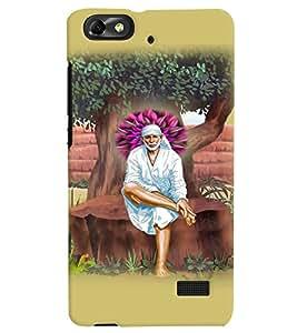 PrintVisa Religious & Spiritual Sai Baba 3D Hard Polycarbonate Designer Back Case Cover for Huawei Honor 4C