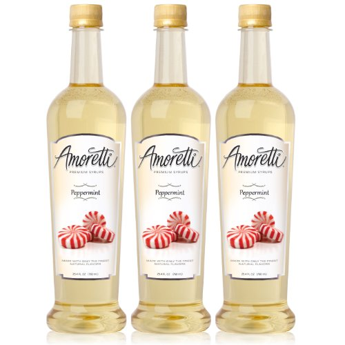 Amoretti Premium Peppermint Syrup 750ml 3 Pack