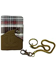 Apki Needs Long Brown Mens Wallet & Beautiful Beautiful Golden Chain Keychain Combo