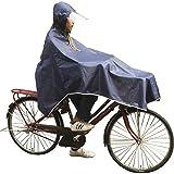 レインコート 黒、ブラック入荷! 【赤字特化の今だけ価格】 2サイズ M、L 自転車対応型 カゴ留クリップ付き リュックも背負えるタイプ