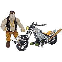 Teenage Mutant Ninja Turtles Movie 2 Rocksteady With Chopper Motorcycle Vehicle