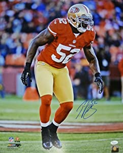 Patrick Willis Autographed San Francisco 49ers 16x20 Photo by DenverAutographs