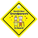 World's Best Grandparents On Board Car Sign, World's Best Grandparents, Grandparents Sign, Car Sign, Grandparent Car Sign, Novelty Car Sign, Baby on board, Baby on Board Sign Style, Bumper Sticker, Grandad car sign, Grandma Car Sign, Nana Car Sign, Decal, Baby Signs, Baby Car Signsby iwantthatsign.com