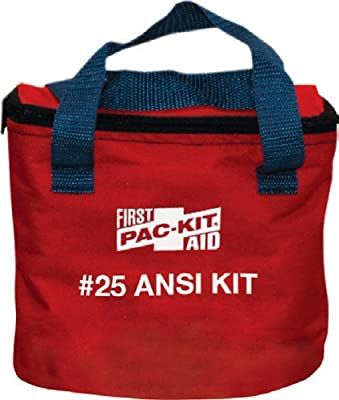 Tactical First Aid Kit: Pac-Kit by First Aid Only 7082 91 Piece 25 Person ANSI Compliant First Aid Kit in Fabric Pouch from Pac-Kit