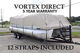 BRAND NEW TANBEIGE 1639 VORTEX ULTRA 3 PONTOON BOAT COVE RHAS ELASTIC AND STRAPS FITS 14 FT TO 16 FT