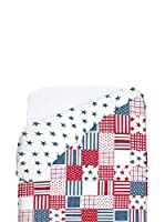 Petit Lazzari Funda Nórdica Boston (Blanco / Azul Marino)
