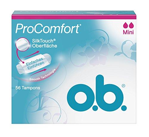 o.b., Assorbenti interni Pro Comfort, Mini, 1 confezione (1 x 56 pz.)