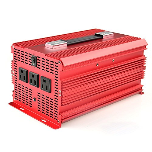 BESTEK 3 AC Outlets 2000W/4600W Power Inverter Car 12V DC to 110V AC Inverter Power Automotive Backup Power Supply for Flood Light, Blender, Vacuum, Refrigerator, Microwave Oven, Chainsaw, Water Pump and More (6 * External 50A Fuses Added)
