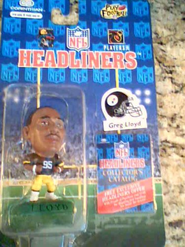 Nfl Headliners 1996 Corinthian Greg Lloyd, Pittsburg Steelers on Display Card, New