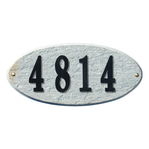"Qualarc Rockport Oval Granite Address Plaque ""Do it Yourself Kit"" Quartzite"