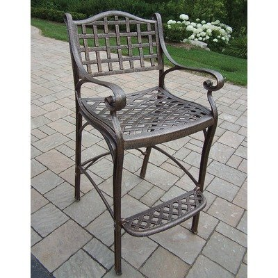 Oakland Living 1100-AB Elite Outdoor Bar Stool, Antique Bronze