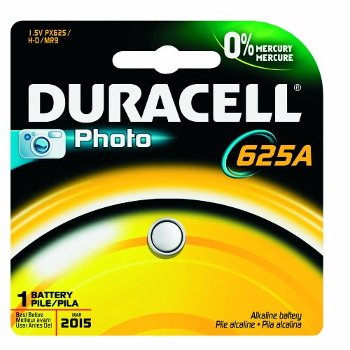 Duracell Px625Abpk Racell Photo Alkaline-Manganese Dioxide Button Cell Battery, 1.5V, 190 Mah Capacity (Case Of 6)