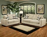 3pc Traditional Modern Fabric Sleeper Sofa Set, BN-BRO-S1