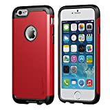 iPhone 6 Case, LUVVITT® ULTRA ARMOR iPhone 6 Case / Best iPhone 6 Case for 4.7 inch Screen Air | Double Layer Shock Absorbing Red iPhone 6 Case Cover (Does NOT fit iPhone 5 5S 5C 4 4s or iPhone 6 Plus 5.5 inch screen) - Black / Red
