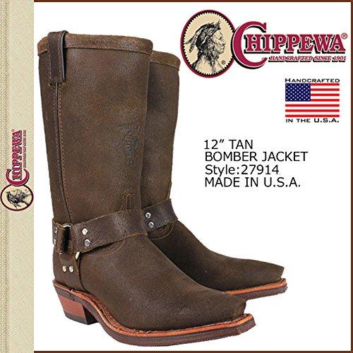 (チペワ)CHIPPEWA 27914 12 TAN BOMBER JACKET BOOT ブーツ タン US10(約28.0cm) Dワイズ(普) (並行輸入品)