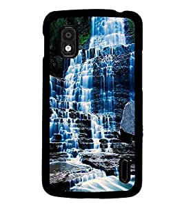 PrintDhaba WaterFall D-1129 Back Case Cover for LG GOOGLE NEXUS 4 (Multi-Coloured)