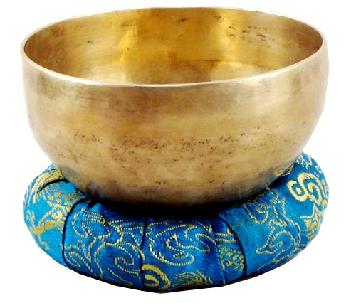 Tibetan 5.5 Inch Hand-Hammered Singing Bowl,Blue Dragon Bag Gift Set