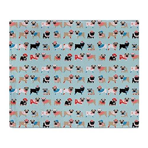 CafePress - Winter Pugs Throw Blanket - Soft Fleece Throw Blanket, 50
