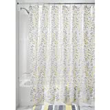 InterDesign Vine Shower Curtain, 72 x 72-Inch, Gray/Yellow