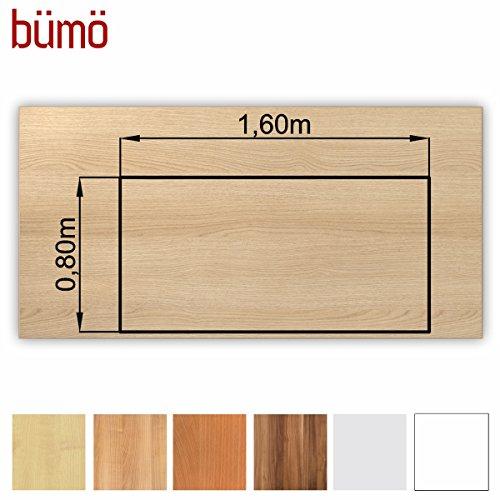 Bm-stabile-Tischplatte-25-cm-stark-DIY-Schreibtischplatte-aus-Holz-Brotischplatte-belastbar-mit-120-kg-Spanholzplatte-in-vielen-Formen-Dekoren-Platte-fr-Bro-Tisch-mehr-Rechteck-160-x-80-cm-Eiche