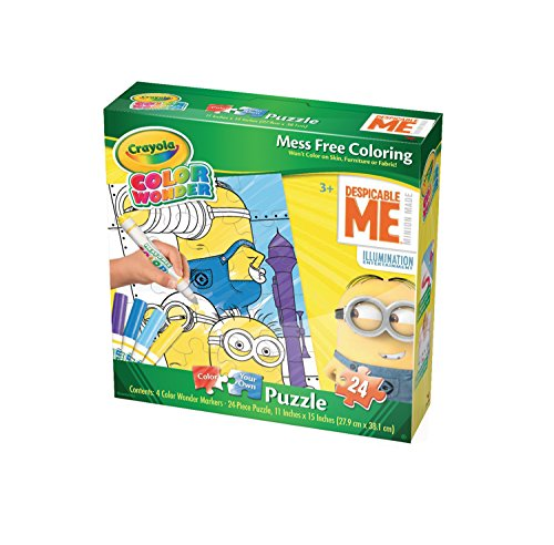 Cardinal Industries Minions Crayola Color Wonder Jigsaw Puzzle (24 Piece)