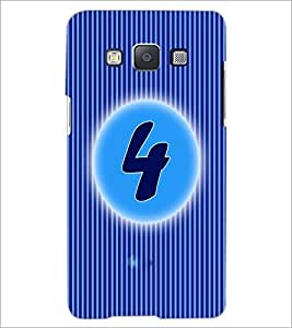 PrintDhaba Numerology Number 4 D-2559 Back Case Cover for SAMSUNG GALAXY E5 (Multi-Coloured)