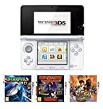 Nintendo Handheld Console 3DS – White 3 Game Pack (Nintendo 3DS)