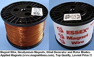 Essex Magnet Wire 22 AWG Gauge Enameled Copper Wire - 11 LBS