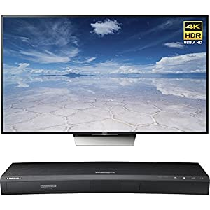 Sony 55-Inch Class 4K HDR Ultra HD TV (XBR-55X850D) with Samsung 3D Wi-Fi 4K Ultra HD Blu-ray Disc Player
