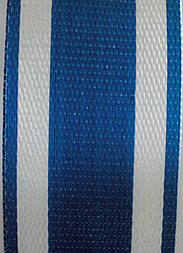 lawn chair webbing kit blue and white stripe lawn chair webbing 2 14 inches wide 50 feet long. Black Bedroom Furniture Sets. Home Design Ideas