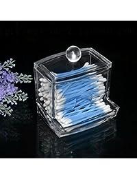 Generic Bathroon Acrylic Crystal Cotton Bud Storage Box Clear Cotton Pad Storage Holder Make Up Cosmetic Organizer...