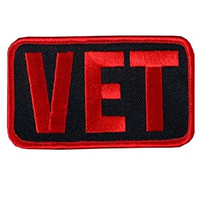 """Hot Leathers Vet Patch (3"""" Width x 2"""" Height)"""