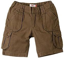 Oye Boys Cargo Shorts - Brown (4-5Y)