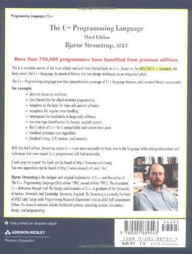 C++ Programming Language, The: Language Library and Design Tutorial