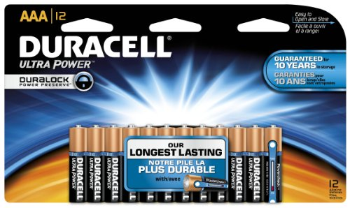 Duracell Mx2400B12Z11 Ultra Power Alkaline-Manganese Dioxide Battery Doublewide Value Pack, Aaa Size, 1.5V (Case Of 12 Cards, 12 Unit Per Card)