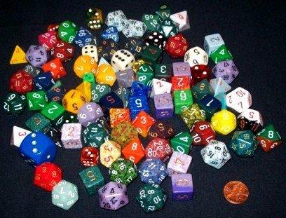 Four Sided Dice - D4 - Random Group Of 10 Four Sided Dice