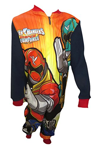 Power Rangers Fleecy Little Boy's All in One Sleepwear 5-6 Years (Power Ranger Pajamas compare prices)