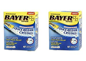 Bayer 20 Pack Quick Release Crystals Pain Relief Asprin Powder