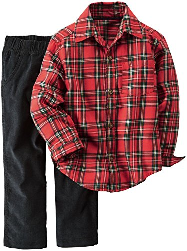 Carter's Baby Boys 2 Pc Playwear Sets 229g266, Plaid, 12M