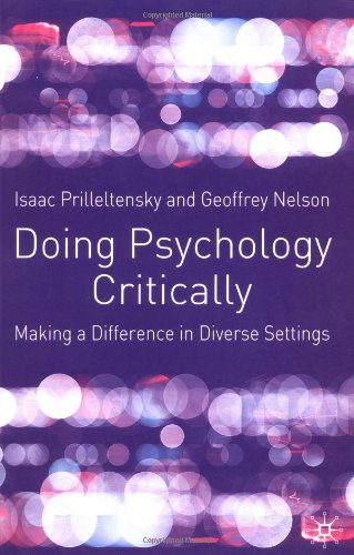 Doing Psychology Critically: Making a Difference in...