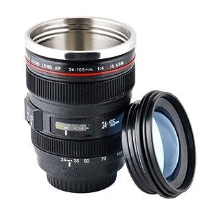 【 15641 虹丸ストア オリジナル 】 カメラ レンズ 型 タンブラー おしゃれな面白グッズ! プレゼント ギフト にも !