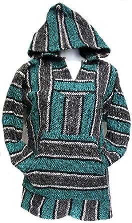 Amazon.com: Unisex Jerga/ Baja/ Mexican Blanket Woven Hoodie (small ...