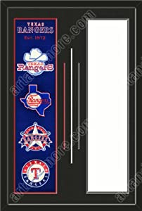 Texas Rangers & Your Choice of other Team Heritage Banner Framed-House... by Art and More, Davenport, IA