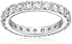 18k White Gold Bead-Set Diamond Eternity Ring (2 1/5 cttw, H-I Color, SI1-SI2 Clarity), Size 7.5